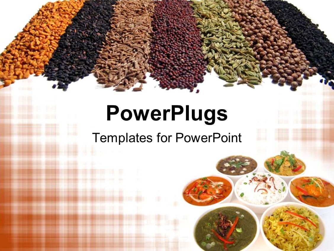 5000 chili powerpoint templates w chili themed backgrounds colorful ppt theme having 7 different indian spices and dishes arranged stylishly template size toneelgroepblik Image collections