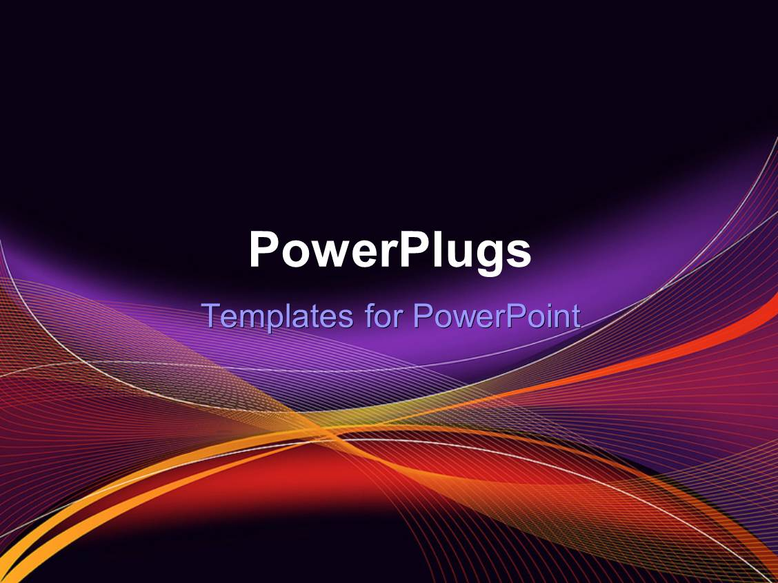 Powerpoint template abstract purple orange gold wave for Power plugs powerpoint templates