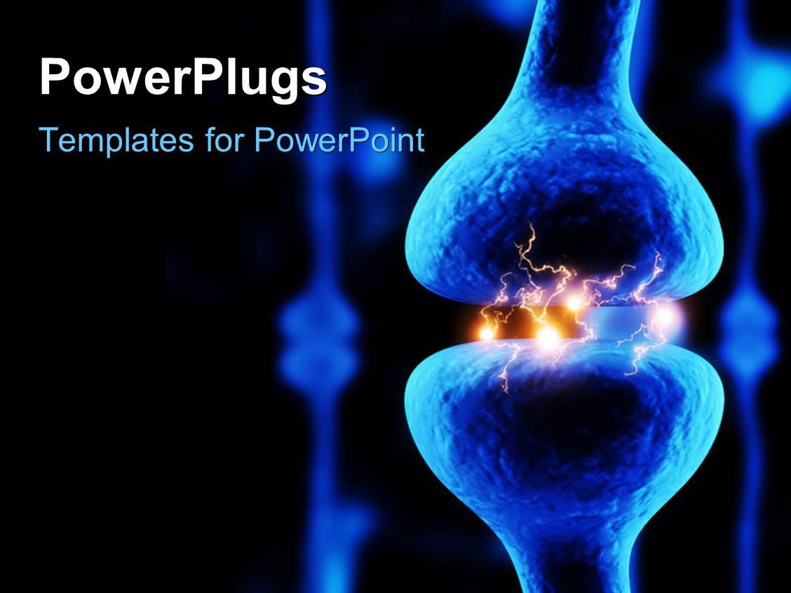 5000 nerve powerpoint templates w nerve themed backgrounds presentation theme having actively firing synapses on black background toneelgroepblik Images
