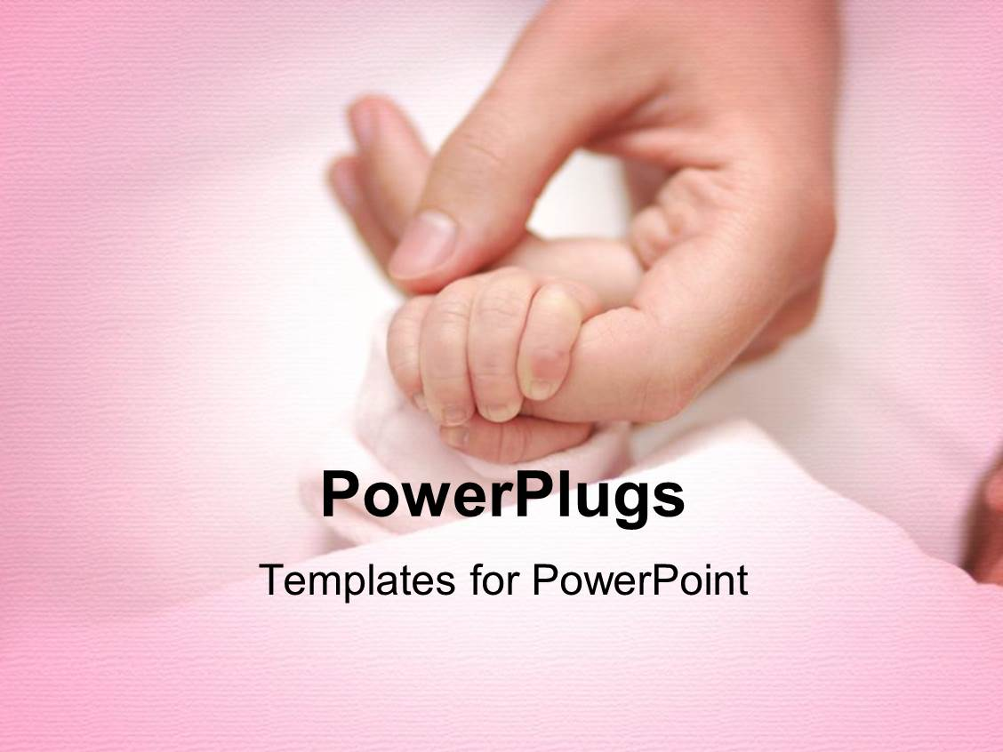 5000 newborn powerpoint templates w newborn themed backgrounds audience pleasing presentation theme featuring an adult female hand holding a babys hand on a pink template size audience pleasing presentation toneelgroepblik Choice Image