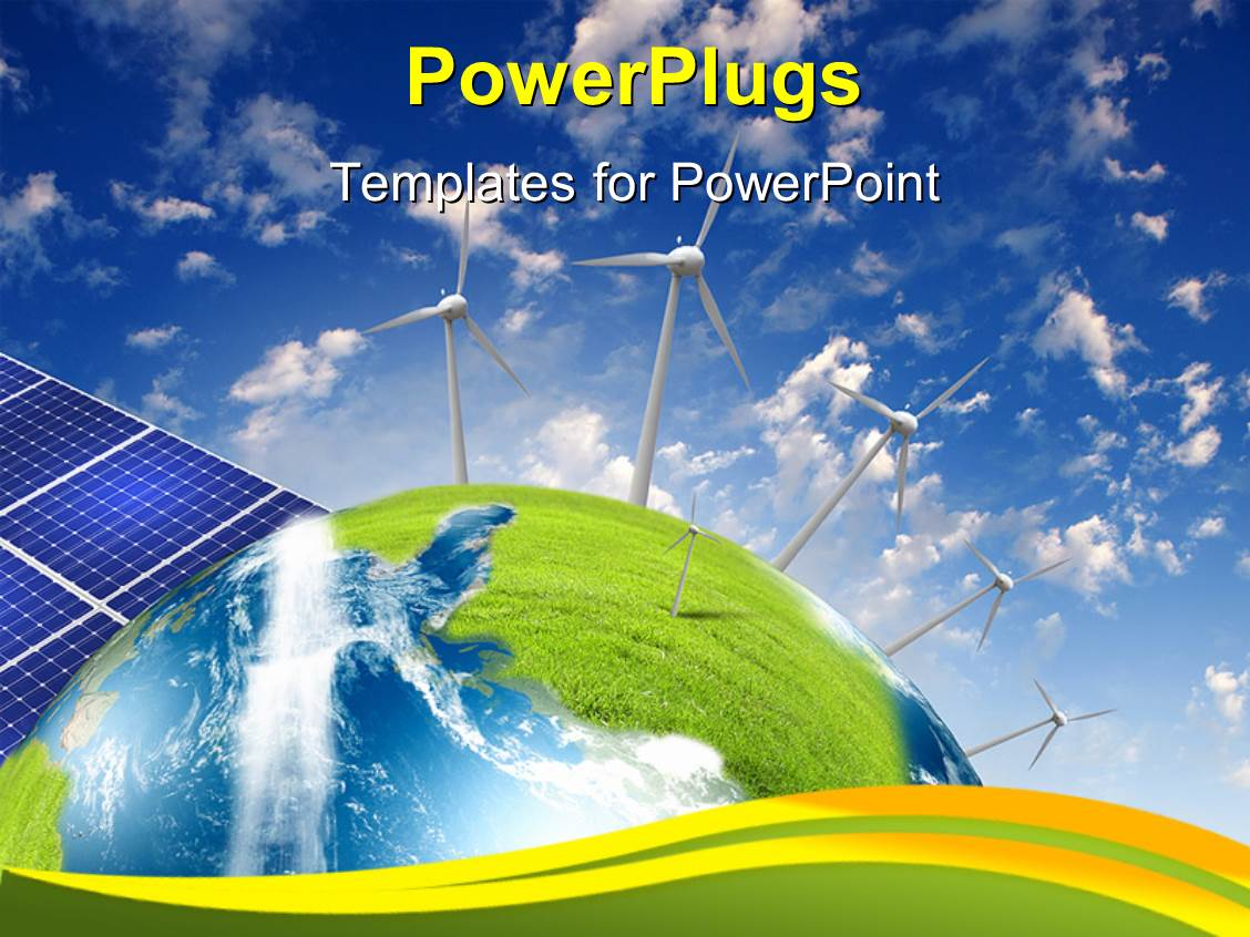 5000 solar cell powerpoint templates w solar cell themed backgrounds presentation design enhanced with alternative energy source with solar panels and wind vanes template size toneelgroepblik Image collections