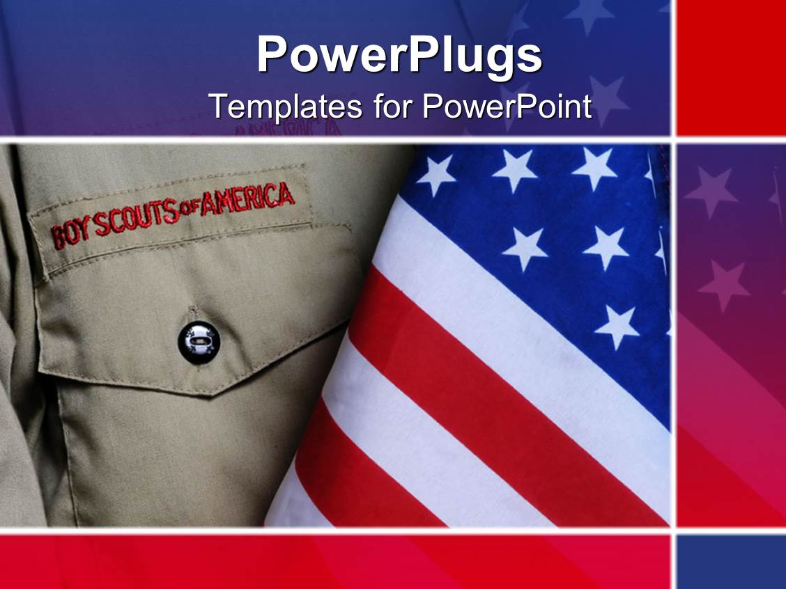 5000 scouts powerpoint templates w scouts themed backgrounds elegant presentation enhanced with an american boy scouts outfit along with an american flag template size maxwellsz