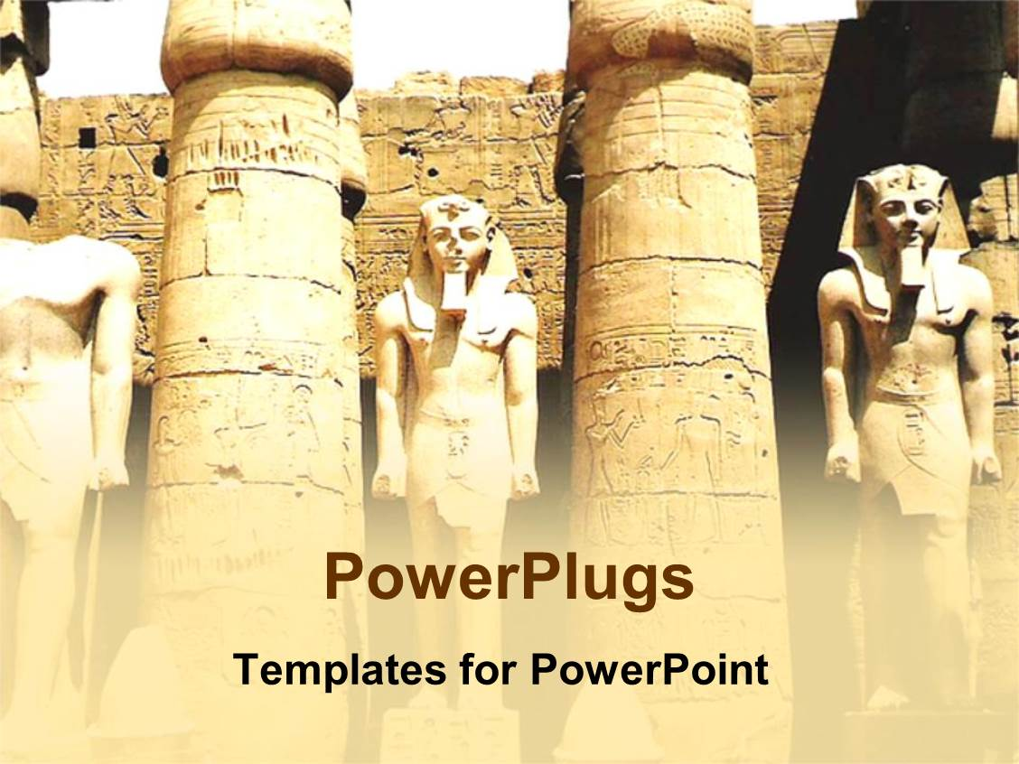History powerpoint templates ppt themes with history backgrounds audience pleasing theme featuring ancient egyptian pharoah statues with columns ruins archaeology toneelgroepblik Gallery