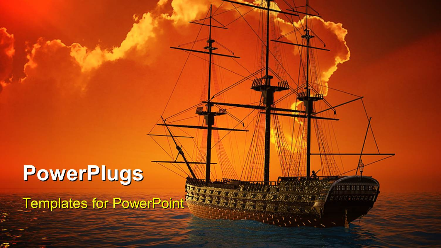 5000 ship powerpoint templates w ship themed backgrounds elegant ppt theme enhanced with a ship sailing in the sea with clouds in background template size toneelgroepblik Gallery