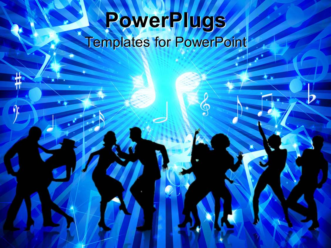 Powerpoint template animated depiction of human figures dancing powerpoint template displaying animated depiction of human figures dancing on a blue background toneelgroepblik Images