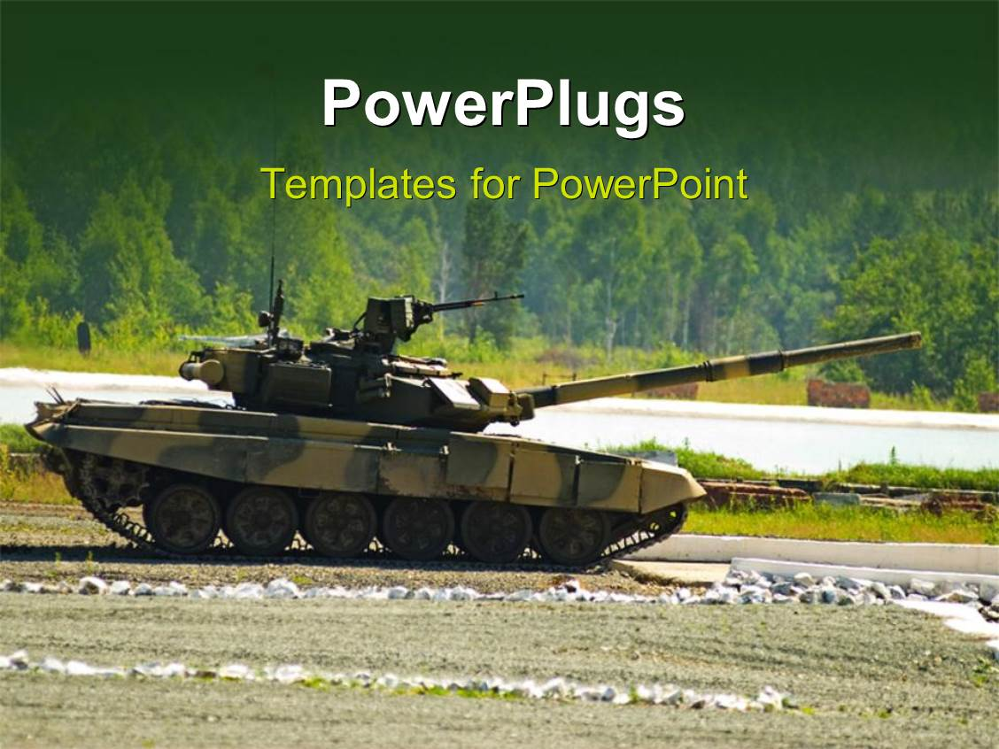 Army powerpoint templates ppt themes with army backgrounds colorful presentation design having an army war amour tank on a tarred road toneelgroepblik Choice Image