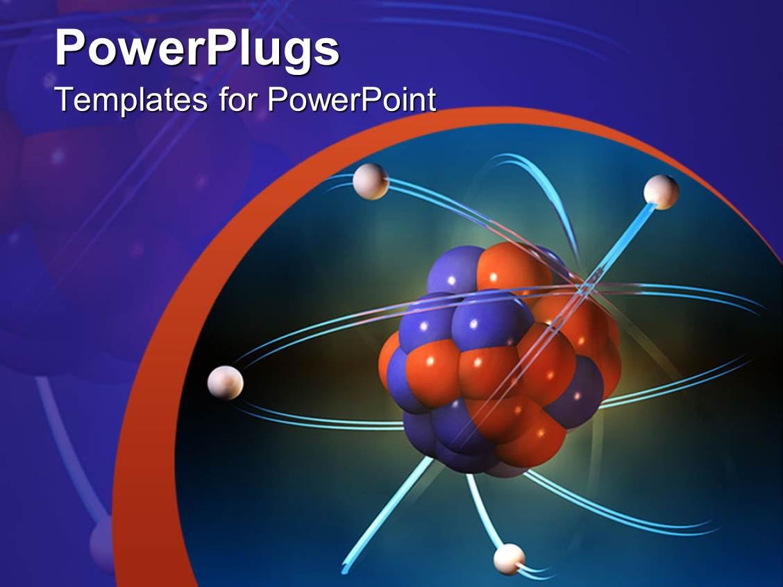 Powerpoint template atom electrons science blue and orange powerpoint template displaying atom electrons science blue and orange background alramifo Image collections