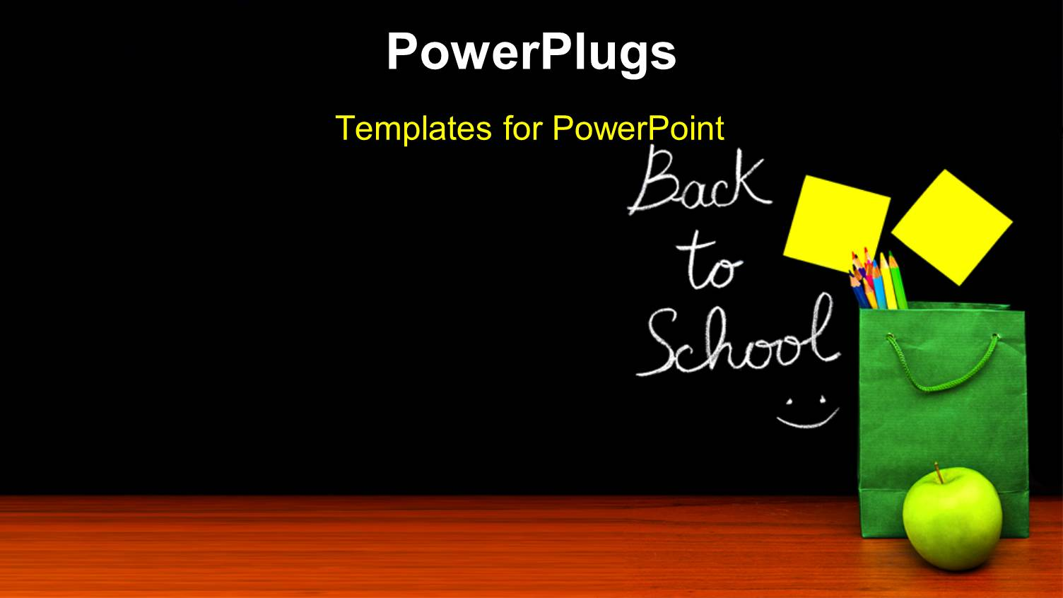 Powerpoint Template Back To School Depiction With Little Girl