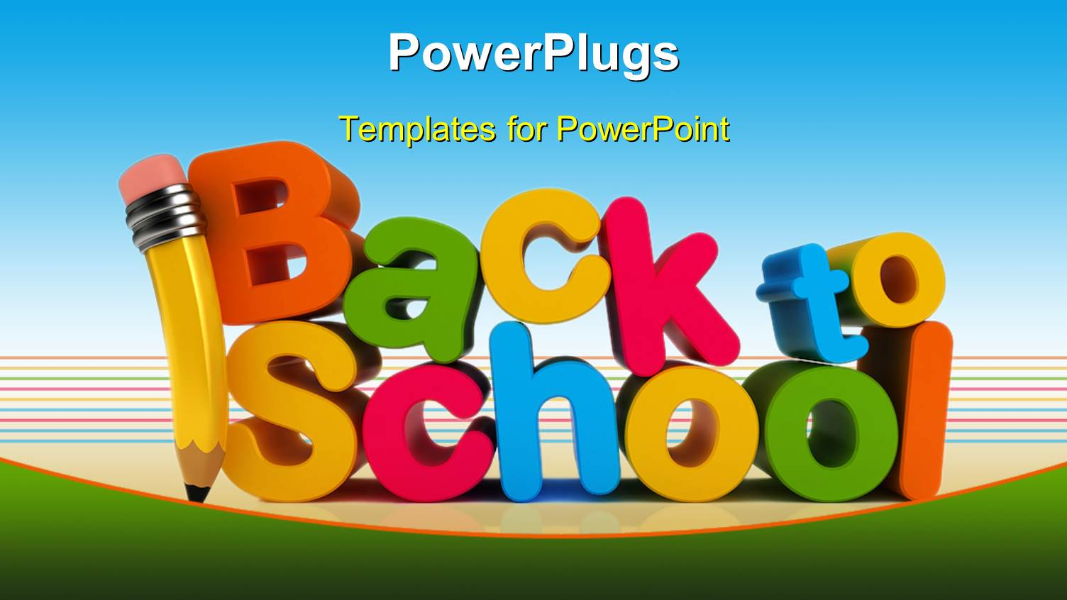 Powerpoint template colorful letters form text back to school powerpoint template displaying colorful letters form text back to school with pencil alramifo Image collections