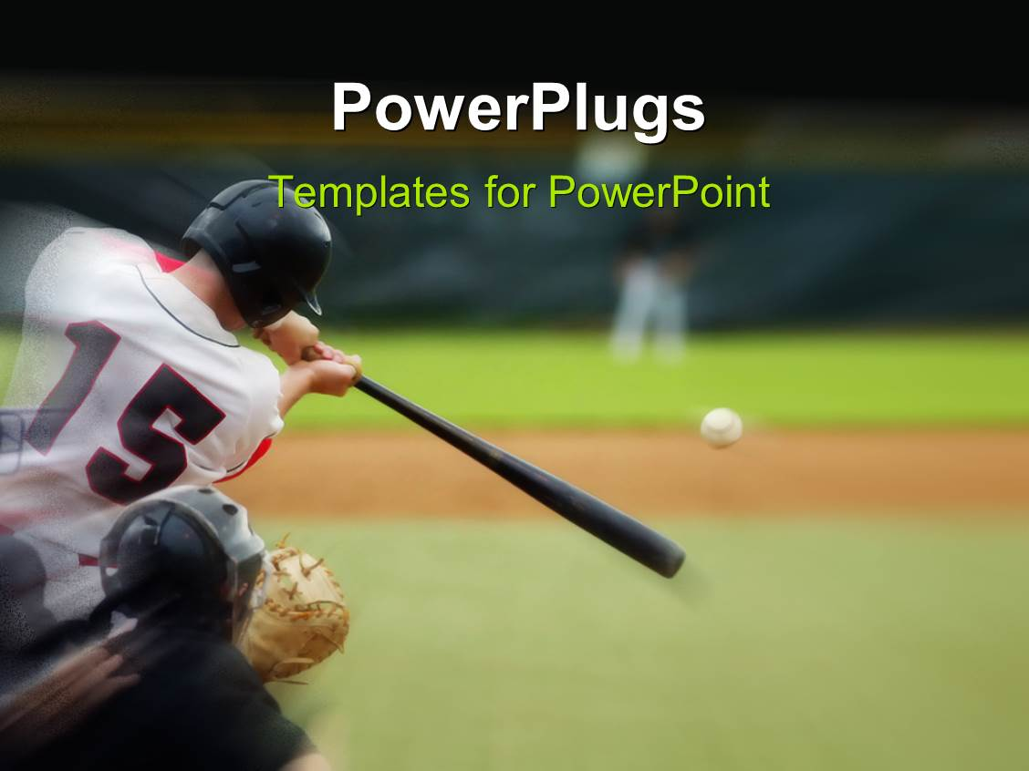 Baseball powerpoint templates ppt themes with baseball backgrounds amazing ppt theme consisting of baseball player immediately after hitting the ball toneelgroepblik Images