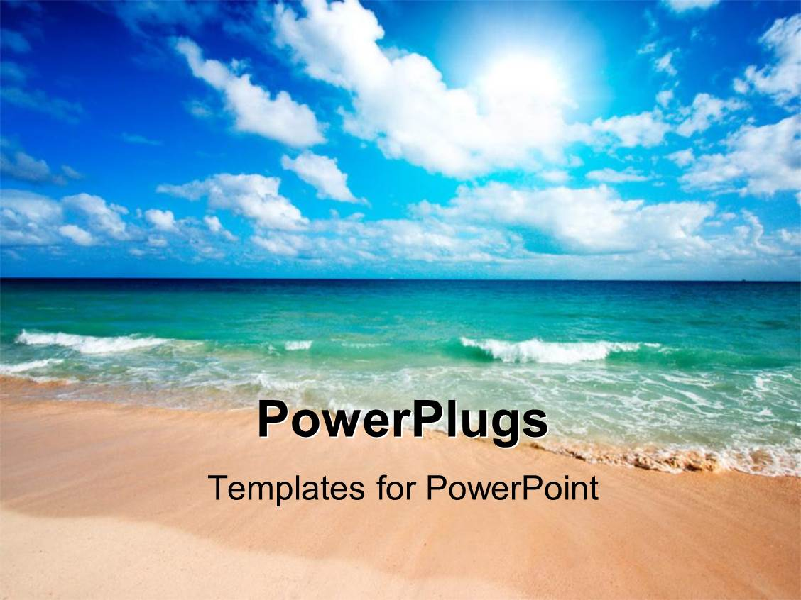 powerpoint template  a beautiful scene of the sea from the