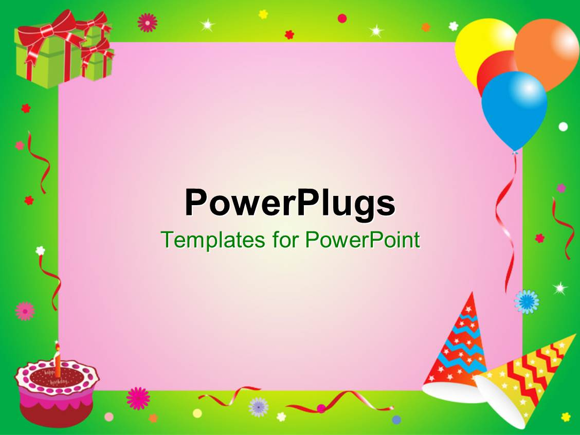 powerpoint template a birthday celebration with pinkish background 3548. Black Bedroom Furniture Sets. Home Design Ideas
