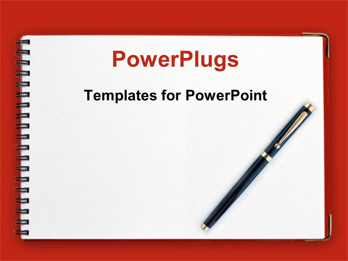 Powerpoint template black pen on spiral notebook with red powerpoint template displaying black pen on spiral notebook with red background alramifo Gallery