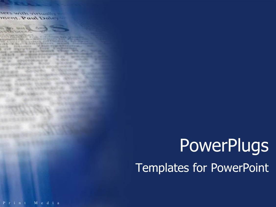 Powerpoint template blue background with close up of newspaper powerpoint template displaying blue background with close up of newspaper print media text alramifo Image collections