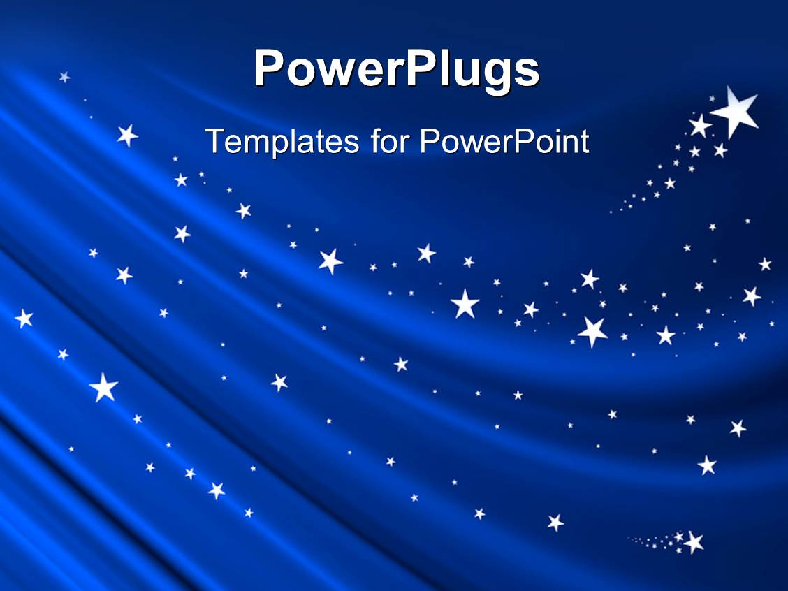 Powerpoint Template An Array Of Bright Colorful Lights With Stars