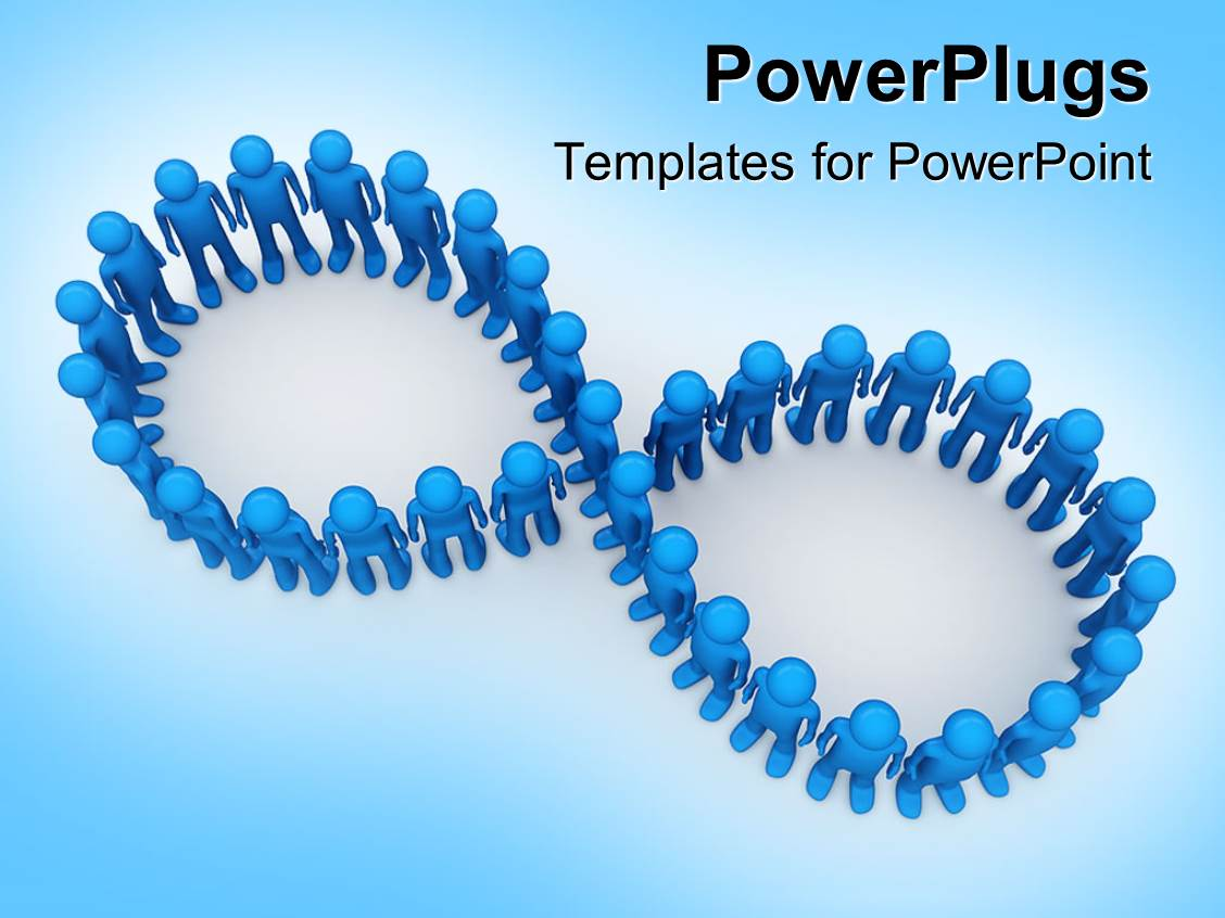 Powerpoint template blue figures arranged in figure eight powerpoint template displaying blue figures arranged in figure eight infinity symbol buycottarizona