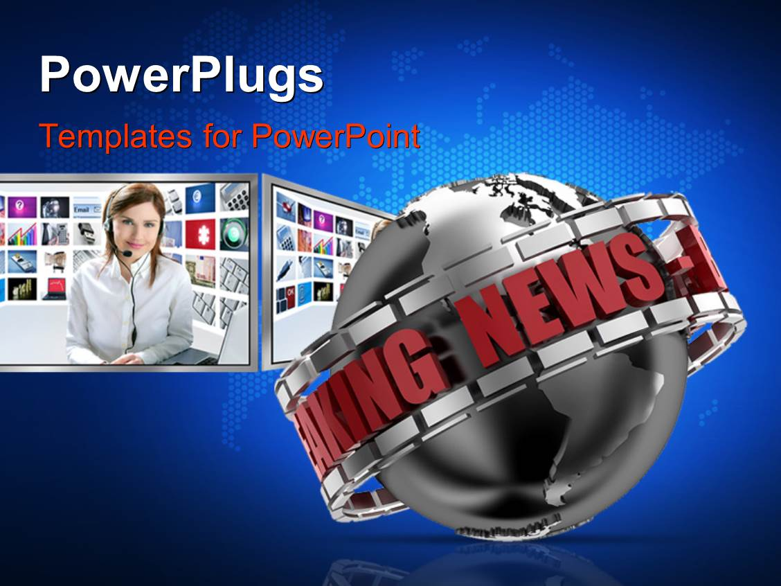 Cnn Breaking News Powerpoint Templates W Cnn Breaking News Themed