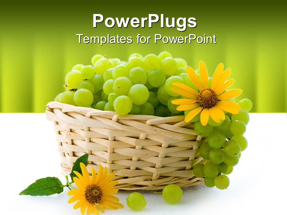 Vitamin powerpoint templates ppt themes with vitamin backgrounds elegant presentation enhanced with a bunch of grapes in the basket along with sunflowers template size toneelgroepblik Choice Image