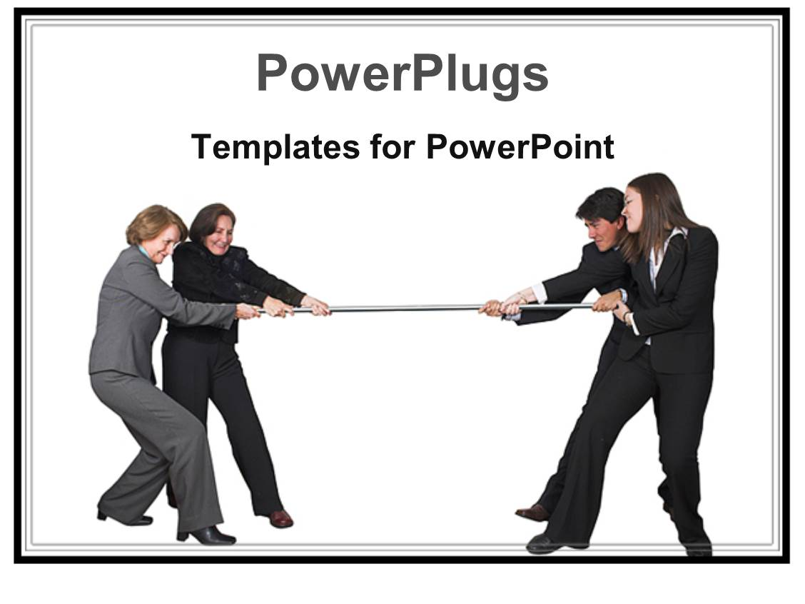 5000 competition powerpoint templates w competition themed backgrounds slide set having business competition metaphor with men and women playing tug of war toneelgroepblik Gallery