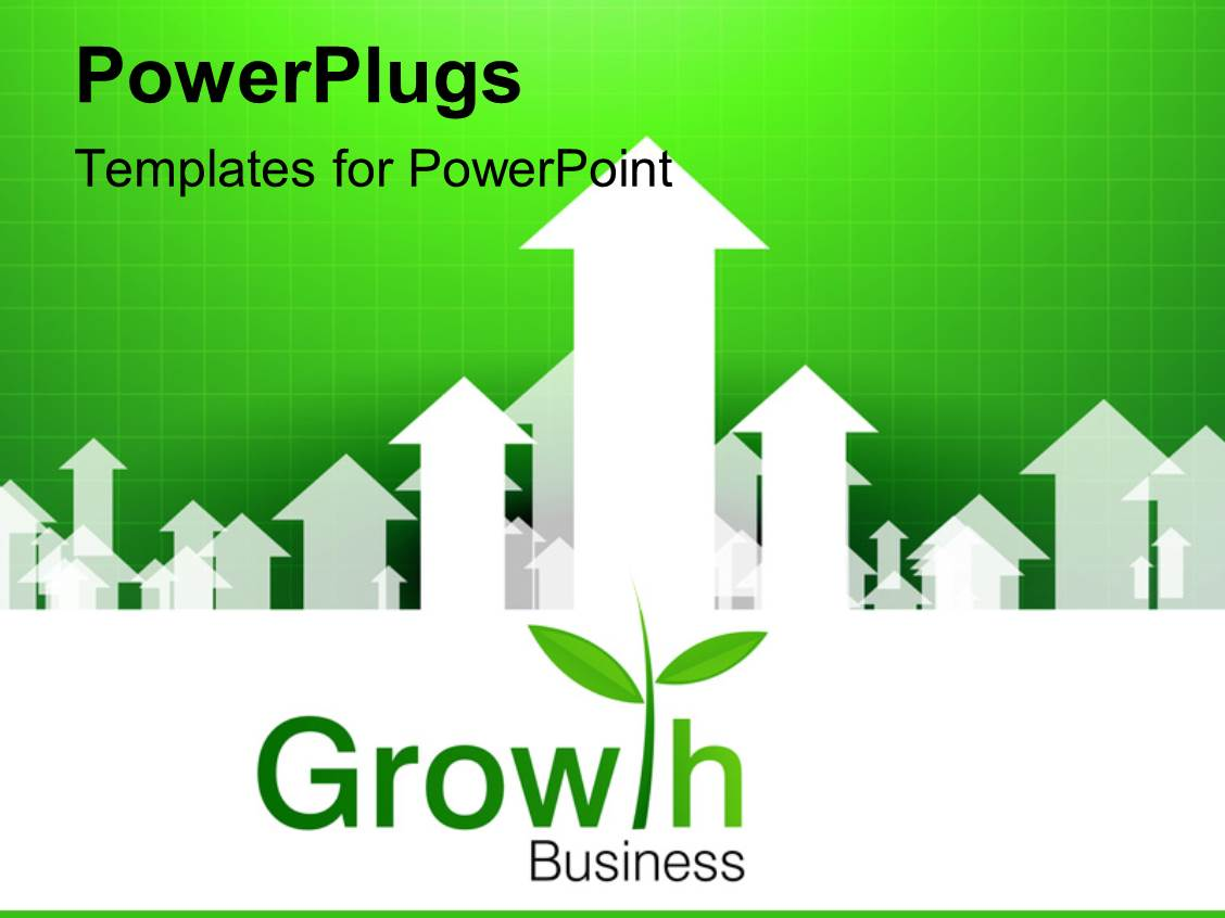 5000 business growth powerpoint templates w business growth themed audience pleasing presentation theme featuring business growth depiction with upward arrows on green background toneelgroepblik Image collections