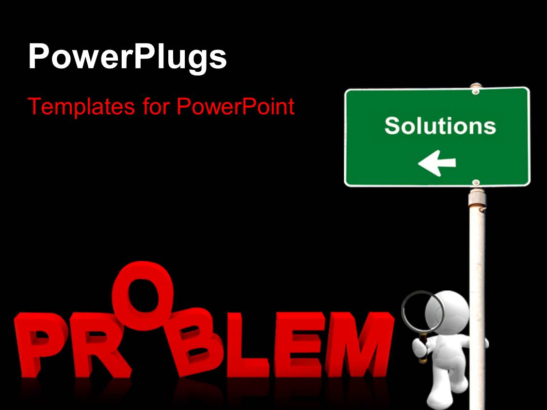 500 problem statement powerpoint templates w problem statement elegant slides enhanced with business person searching for solution for a problem with black color maxwellsz