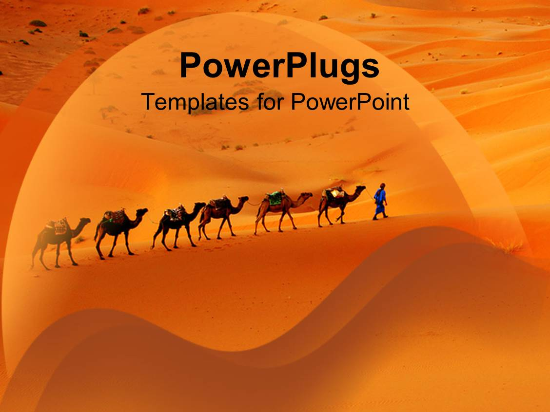 5000 arabic powerpoint templates w arabic themed backgrounds beautiful slides with camels and desert merchants travelling through desert sand dunes template size toneelgroepblik Choice Image