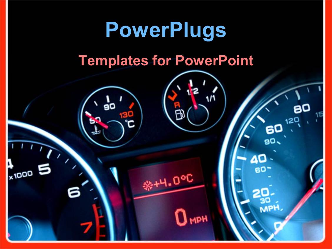 5000 car powerpoint templates w car themed backgrounds amazing presentation theme consisting of car dashboard showing speed meter fuel meter engine temperature toneelgroepblik Gallery