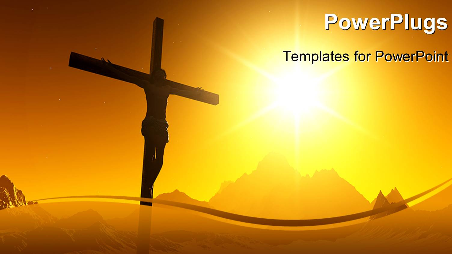 5000 christ powerpoint templates w christ themed backgrounds colorful ppt theme having a sunset view of a cross with jesus christ toneelgroepblik Image collections