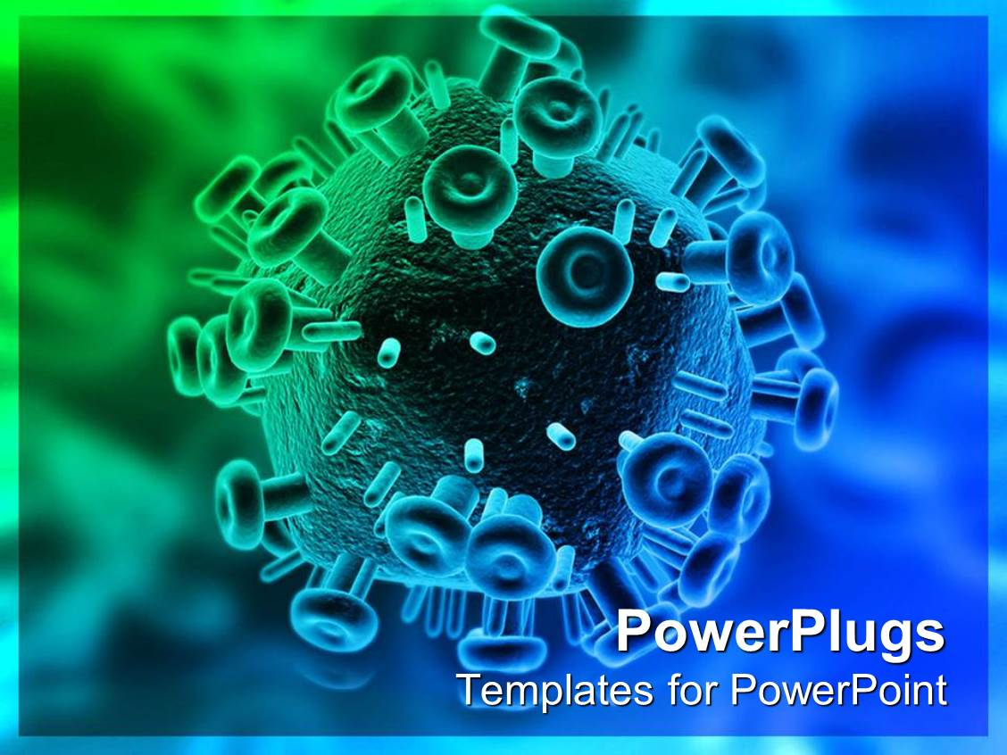 5000 hiv powerpoint templates w hiv themed backgrounds presentation theme with close up 3d hiv virus toneelgroepblik Choice Image