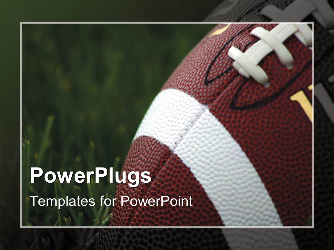 Powerpoint template close up of american football on grass with powerpoint template displaying close up of american football on grass with blurred frame alramifo Images