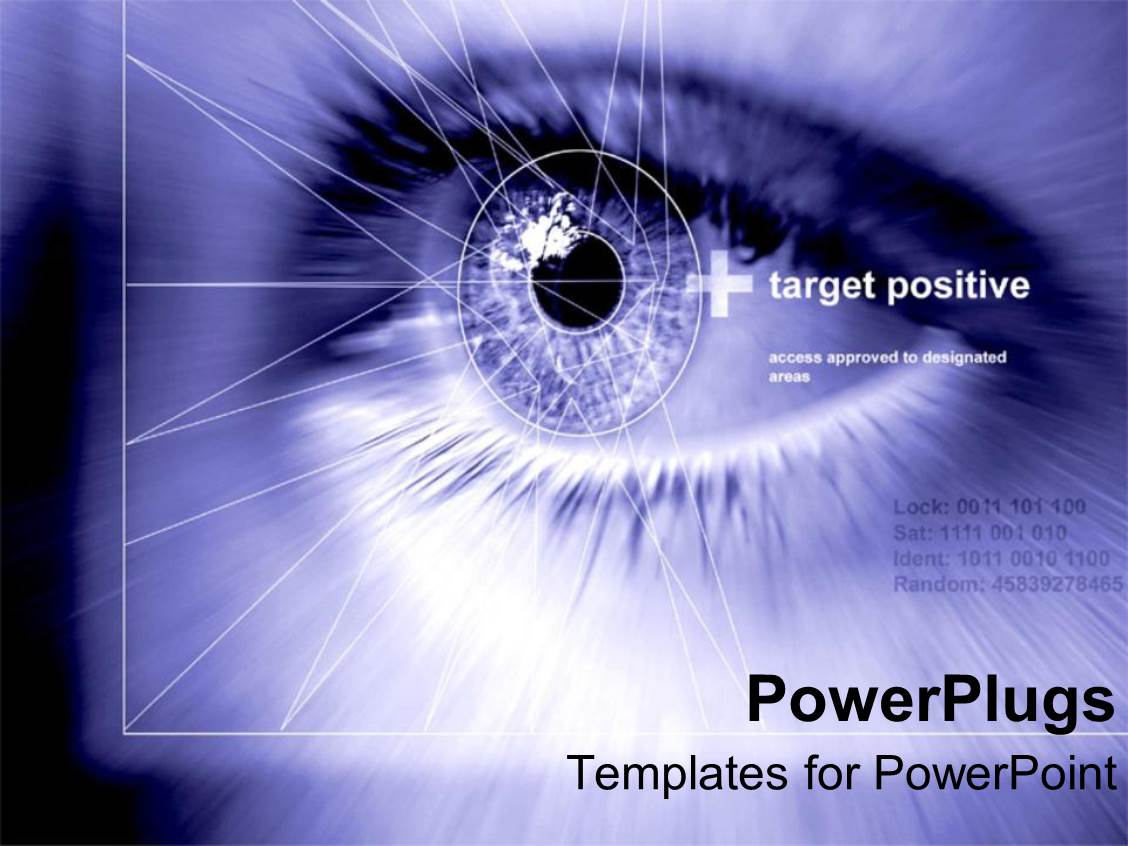 Top eye powerpoint templates backgrounds slides and ppt themes amazing theme consisting of close up of pupil of human eye with geometric shapes on a template size toneelgroepblik Choice Image