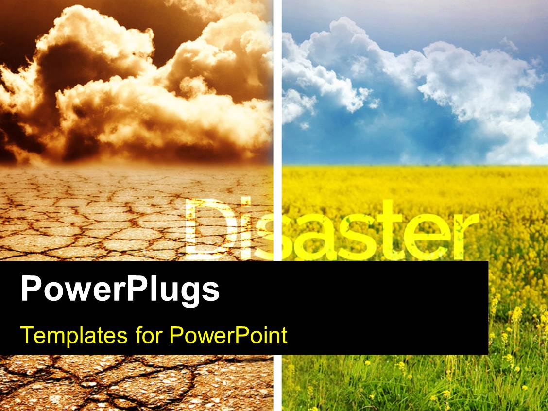 5000 disaster powerpoint templates w disaster themed backgrounds presentation design consisting of collage of two environmental contrasting conditions disaster and flourishing field template size presentation toneelgroepblik Choice Image