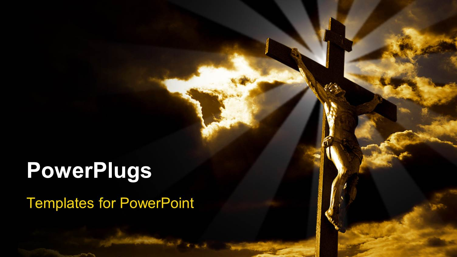 Jesus powerpoint templates ppt themes with jesus backgrounds elegant presentation theme enhanced with the crucifixion of jesus with clouds in the background template size toneelgroepblik Gallery