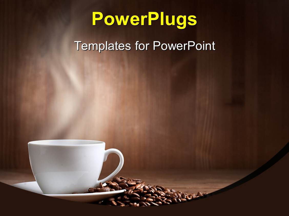 5000 coffee powerpoint templates w coffee themed backgrounds theme enhanced with a cup of coffee along with a number of coffee beans template size toneelgroepblik Images
