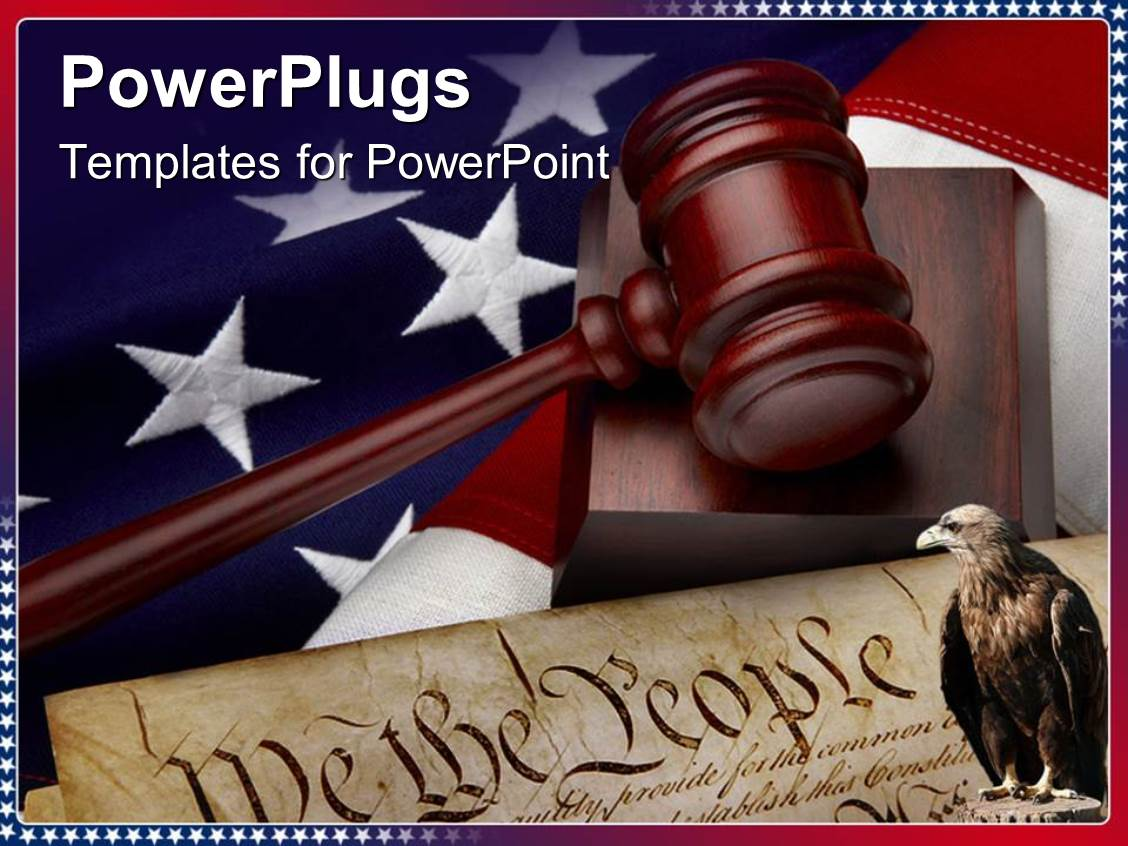 Powerpoint template the depiction of american justice system with powerpoint template displaying the depiction of american justice system with american constitution toneelgroepblik Choice Image