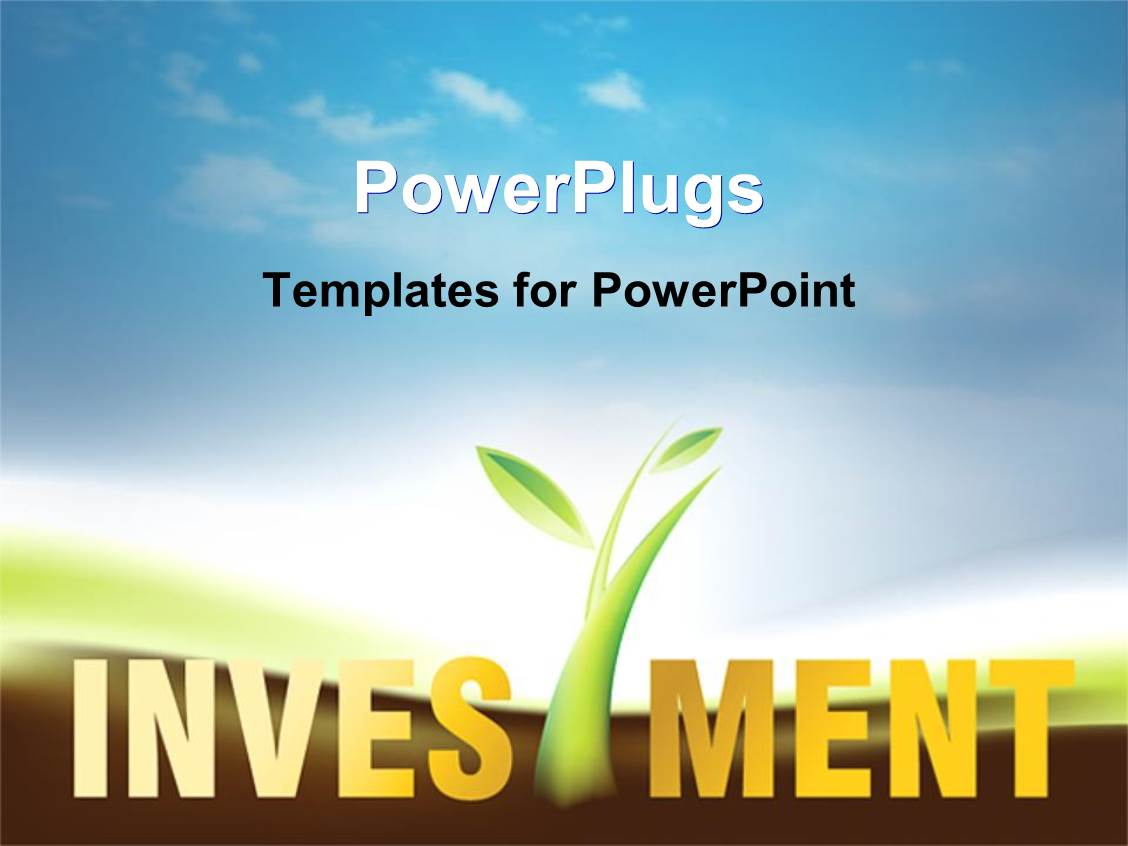 Investment powerpoint templates ppt themes with investment audience pleasing presentation theme featuring a depiction of greenery and the word investment with clouds in template size toneelgroepblik Image collections