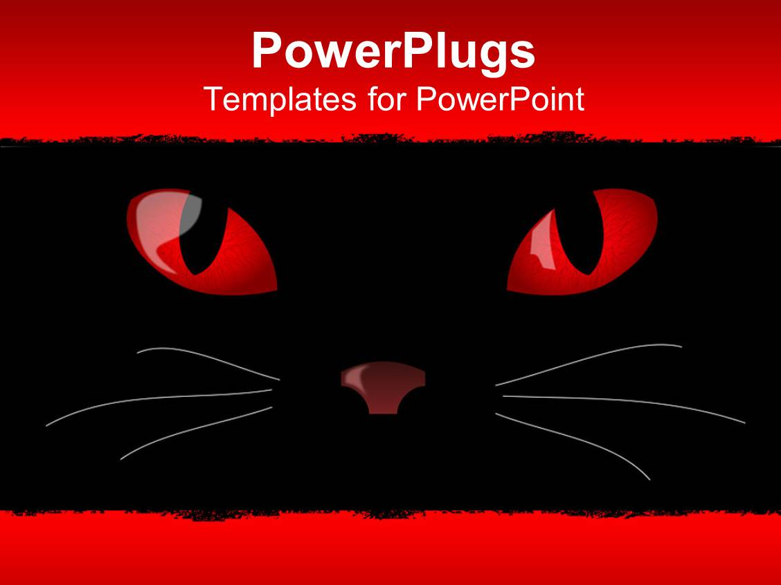 ppt layouts enhanced with the devil cat eyes glowing along with the upper and lower space template size