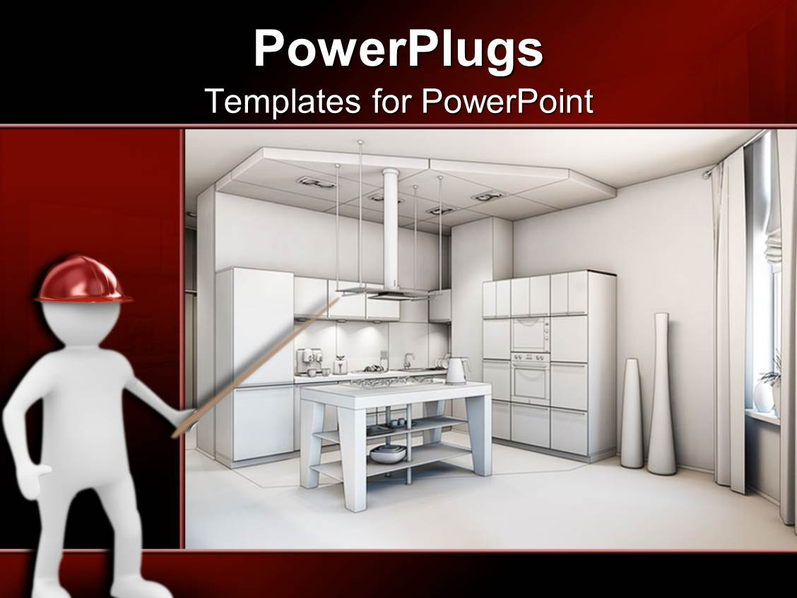Kitchen powerpoint templates w kitchen themed backgrounds slide set consisting of digital representation of kitchen interior design and architecture of kitchen with furniture template size toneelgroepblik Image collections