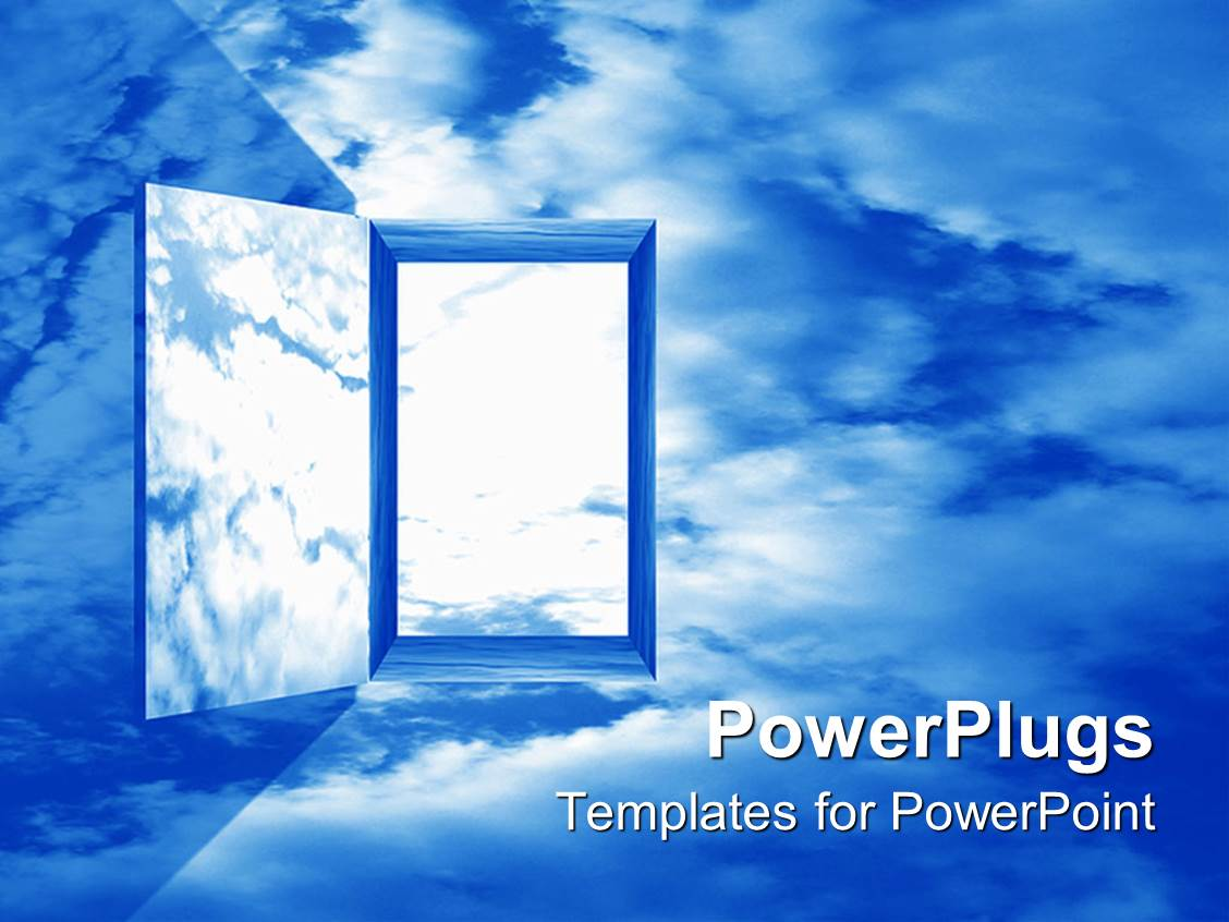 5000 heaven powerpoint templates w heaven themed backgrounds elegant theme enhanced with doorway passage to heaven blue sky toneelgroepblik Choice Image