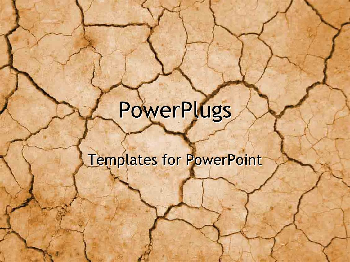 5000 cracked powerpoint templates w cracked themed backgrounds elegant presentation theme enhanced with dry cracked desert in summer drought with no water on tan toneelgroepblik Images