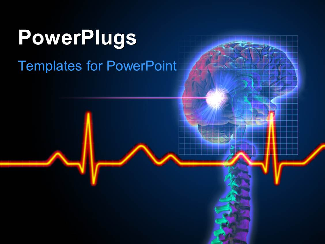 Powerpoint template a radio mike along with music signature 20450 elegant ppt theme enhanced with ecg wave in front and brain tumor being vaporized with radio toneelgroepblik Choice Image