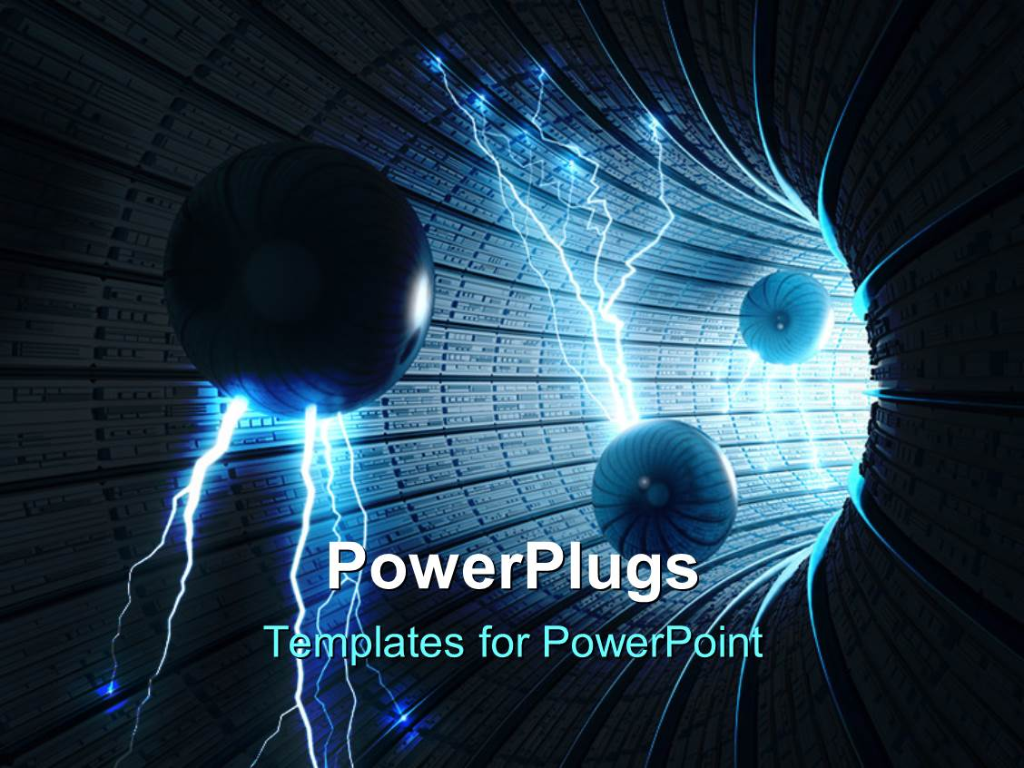 Power plugs powerpoint templates image collections templates powerpoint template black digital splatter art for science fiction slides featuring electric spheres entering abstract tunnel toneelgroepblik