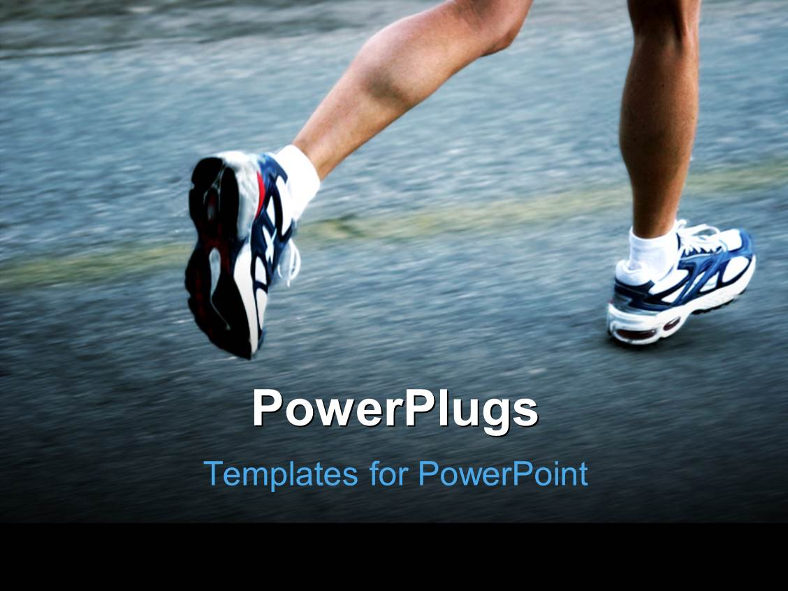 5000 running powerpoint templates w running themed backgrounds beautiful presentation theme with feet of a running man wearing running shoes toneelgroepblik Choice Image
