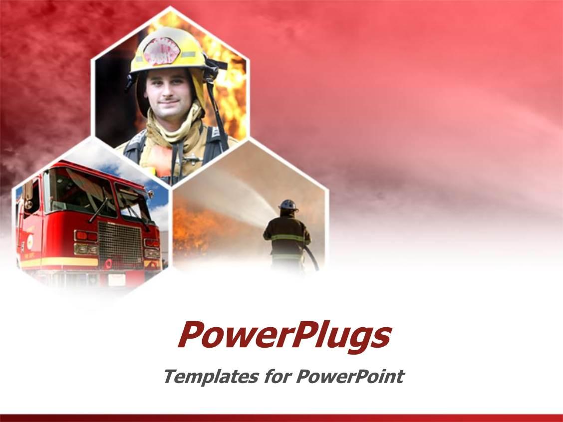 5000 fire powerpoint templates w fire themed backgrounds slide set having fire fighter firemen fire truck red background template size toneelgroepblik Images