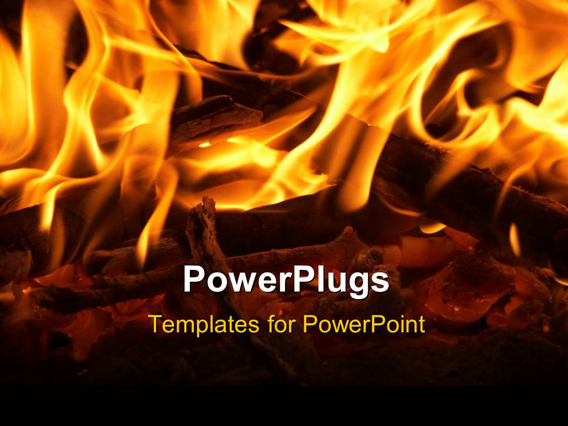 Powerpoint template fireplace with wooden log and glowing fire 12285 powerpoint template displaying fireplace with wooden log and glowing fire toneelgroepblik Image collections