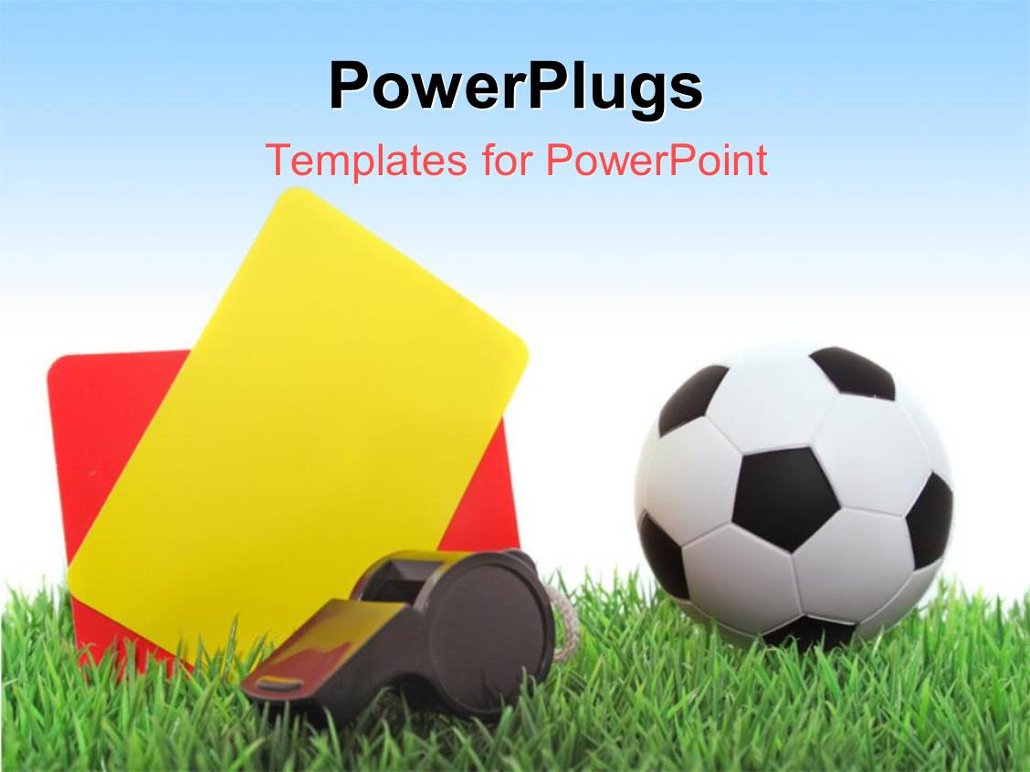 Powerpoint template a football with a whistle and the cards 12856 powerpoint template displaying a football with a whistle and the cards alramifo Images