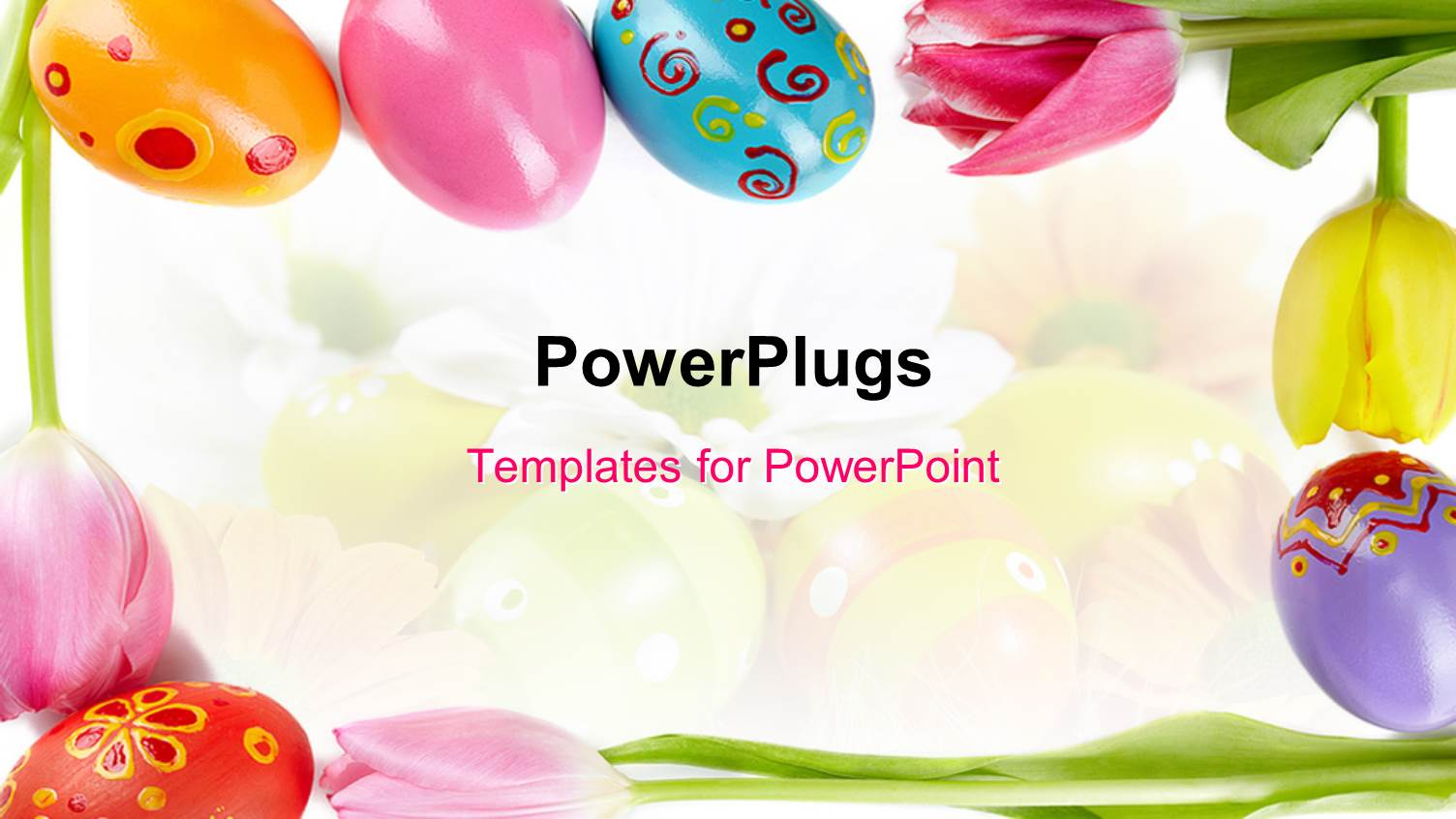 Awesome easter powerpoint template photos best resume examples and powerpoint template a number of easter eggs with colorful toneelgroepblik Images
