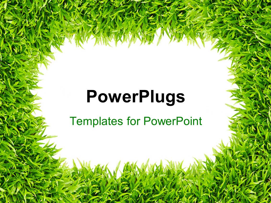 Grass powerpoint templates ppt themes with grass backgrounds presentation design consisting of frame surrounded with green grass depicting nature template size toneelgroepblik Image collections