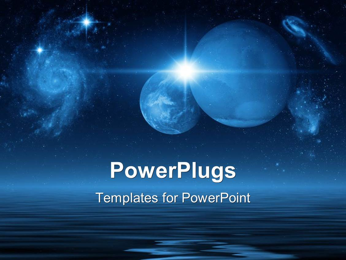 Space powerpoint templates ppt themes with space backgrounds slides having future planets in galaxies and space above the blue ocean on a dark night template size toneelgroepblik Image collections