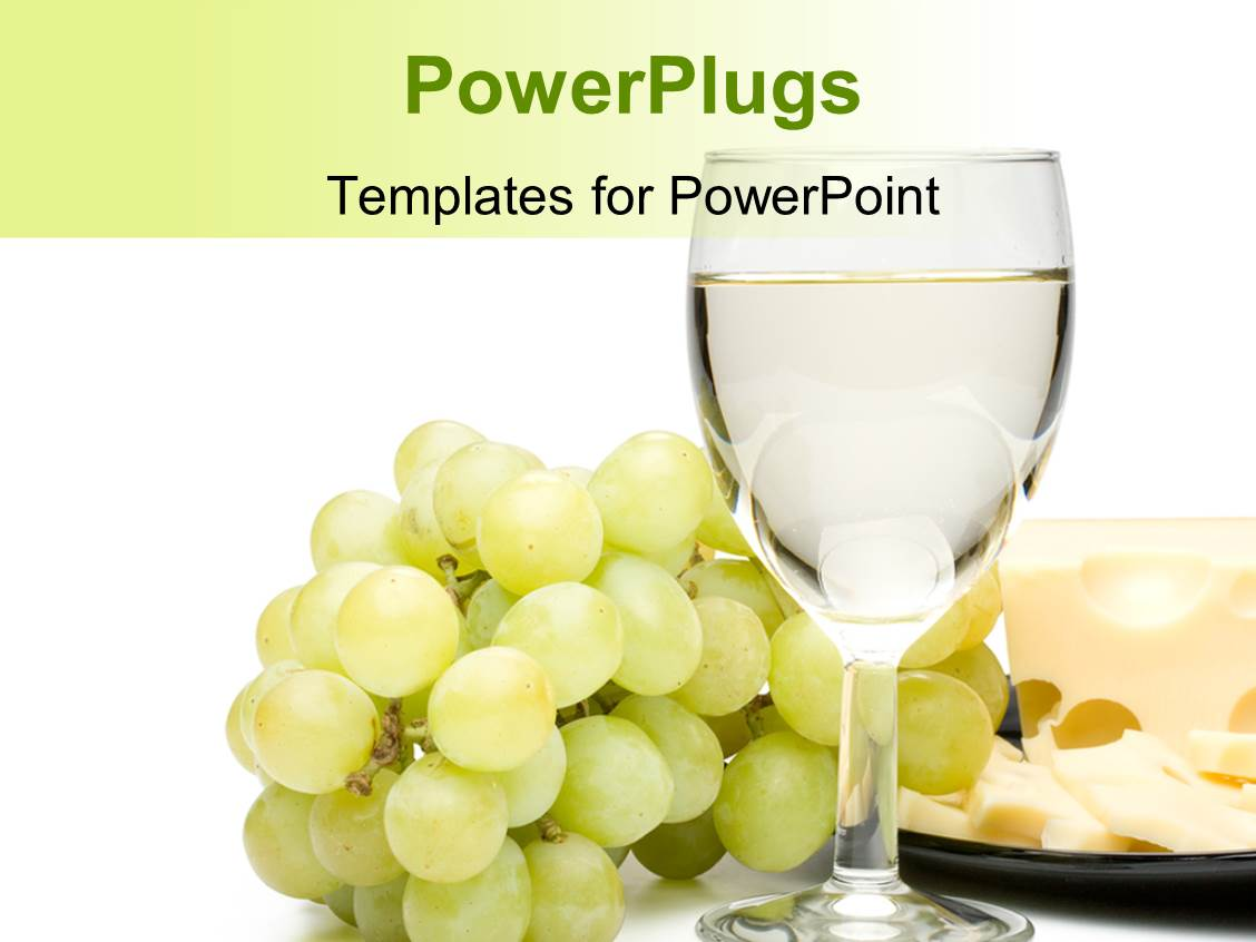 Powerpoint template wine background and magic wand with golden theme enhanced with a glass of wine with a number of grapes toneelgroepblik Gallery